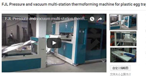 Pressure and vacuum multi-station thermoforming machine for plastic egg tray