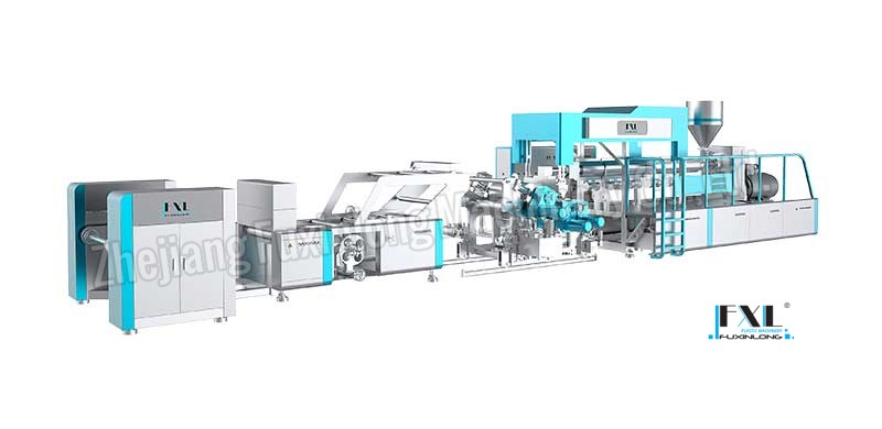 FJL-PC-C SERIES Horizontal mono-layer plastic sheet extrusion line